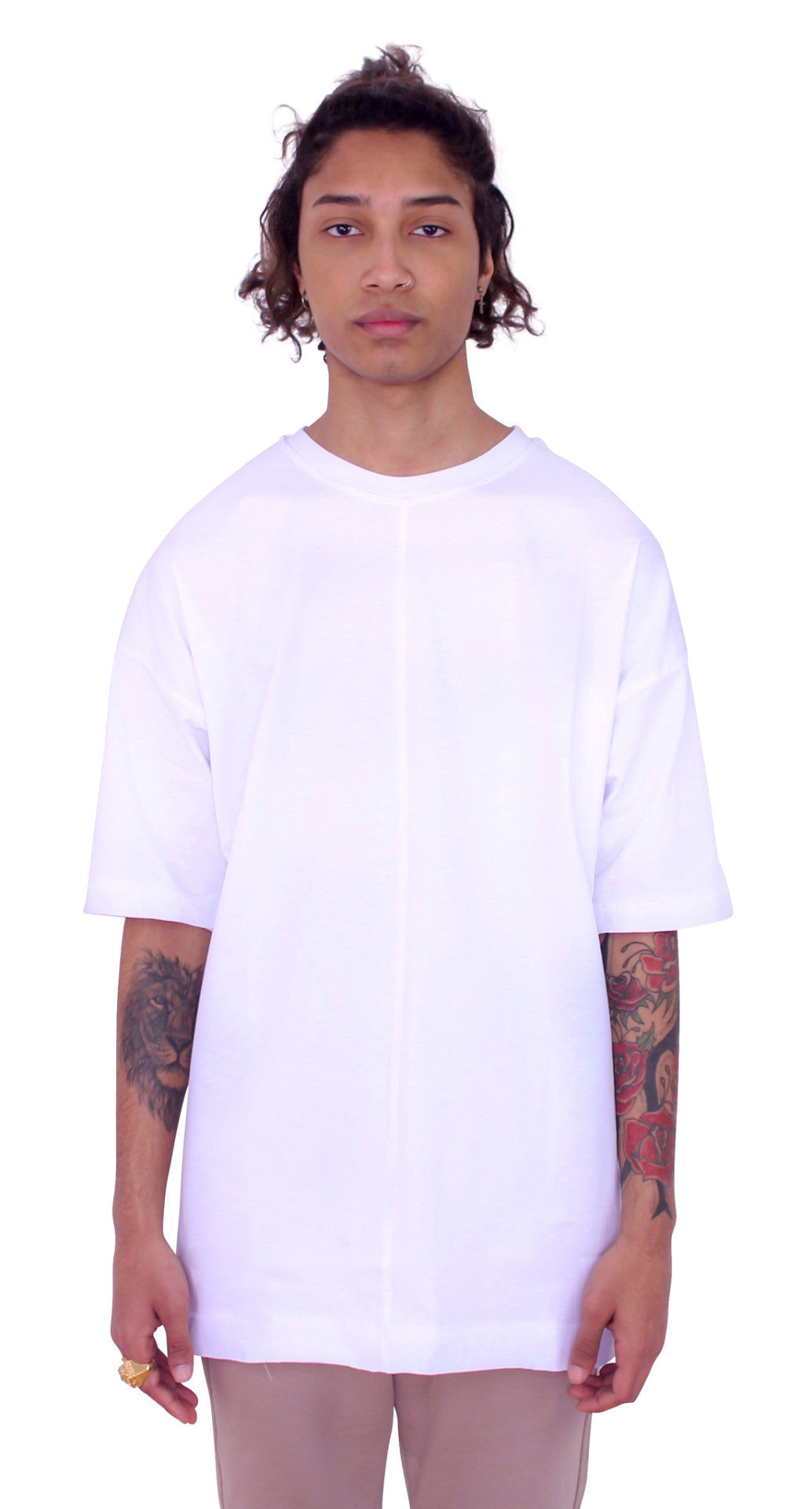 DROPPED SHOULDERS TEE - WHITE