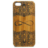 Infinity Laser-Engraved Case for iPhone 8, 8 Plus, 7, 7 Plus, 6, 6S, 6 Plus, 6S Plus, SE, 5, 5S