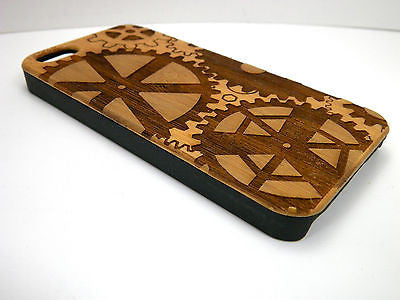 Steampunk iPhone Case | 8, 8 Plus, 7, 7 Plus, 6, 6S, 6 Plus, 6S Plus, SE, 5, 5S Bamboo Wood Cover