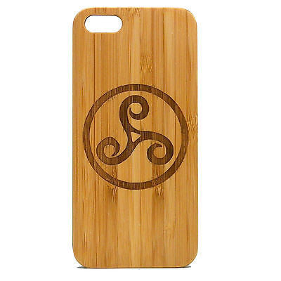 Triskele iPhone Case | 6, 6S, 6 Plus, 6S Plus, SE, 5, 5S, 5C. Bamboo Wood Cover. Triskelion Celtic Knot Druid Symbol Teen Wolf. By iMakeTheCase