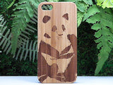 Panda iPhone Case | 8, 8 Plus, 7, 7 Plus, 6, 6S, 6 Plus, 6S Plus, SE, 5, 5S, 5C. Bamboo Wood Cover. Chinese Asian Bear Cute. By iMakeTheCase
