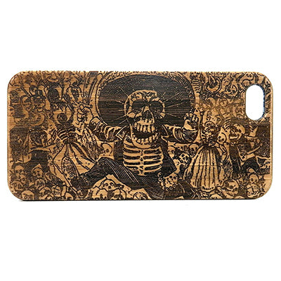 Day of the Dead Laser-Engraved Case for iPhone 8, 8 Plus, 7, 7 Plus, 6, 6S, 6 Plus, SE, 5, 5S