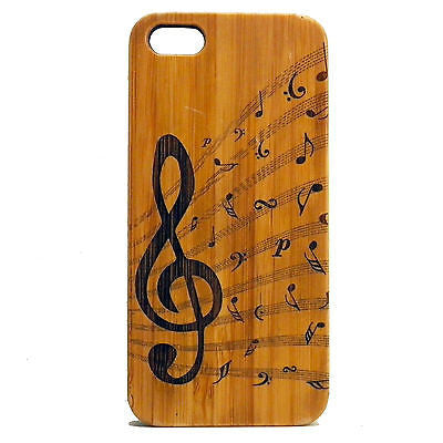 Treble Clef iPhone Case | 6, 6S, 6 Plus, 6S Plus, SE, 5, 5S, 5C. Bamboo Wood Cover. Music Note Musician Band Jazz Choir. By iMakeTheCase