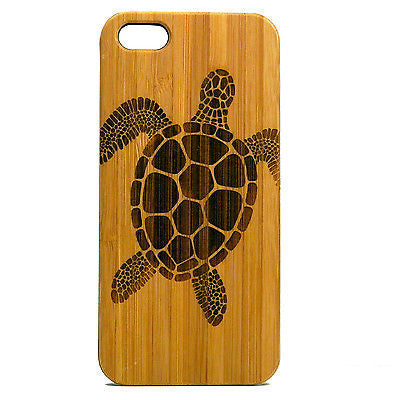 Sea Turtle iPhone Case | 8, 8 Plus, 7, 7 Plus, 6, 6S, 6 Plus, 6S Plus, SE, 5, 5S Bamboo Wood Cover