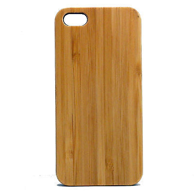 Bamboo iPhone Case | 8, 8 Plus, 7, 7 Plus, 6, 6S, 6 Plus, 6S Plus, SE, 5, 5S, 5C. Bamboo Wood Cover. Eco-Friendly Plain Natural Grain. By iMakeTheCase