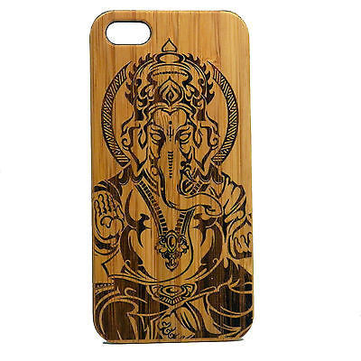 Ganesha iPhone Case | 8, 8 Plus, 7, 7 Plus, 6, 6S, 6 Plus, 6S Plus, SE, 5, 5S, 5C. Bamboo Wood Cover. Elephant Hindu Deva God Deity Ganesh India Zen. By iMakeTheCase