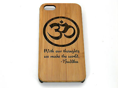 Om Buddha Quote Laser-Engraved Case for iPhone 8, 8 Plus, 7, 7 Plus, 6, 6S, 6 Plus, SE, 5, 5S