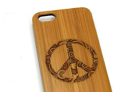 Peace Sign Laser-Engraved Case for iPhone 8, 8 Plus, 7, 7 Plus, 6, 6S, 6 Plus, 6S Plus, SE, 5, 5S