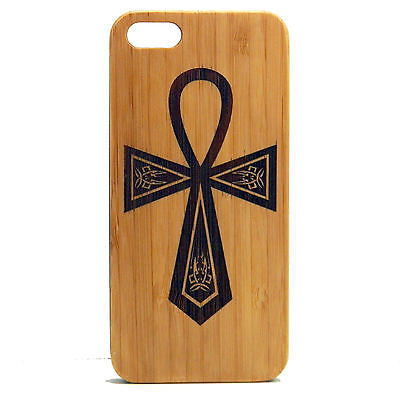 Ankh iPhone Case | 8, 8 Plus , 7, 7 Plus, 6, 6S, 6 Plus, 6S Plus, SE, 5, 5S, 5C. Bamboo Wood Cover. Egyptian Eternal Life Symbol Zen. By iMakeTheCase