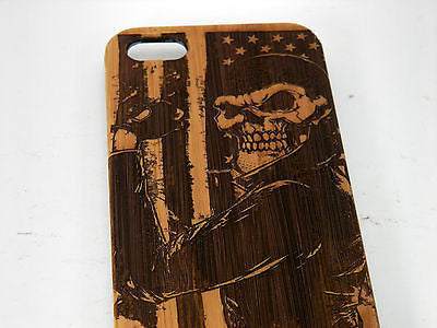 Biker Skull Laser-Engraved Case for iPhone 8, 8 Plus, 7, 7 Plus, 6, 6S, 6 Plus, 6S Plus, SE, 5, 5S