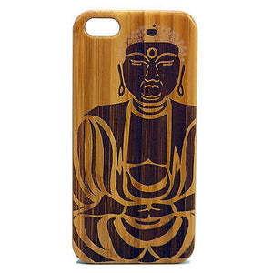 Tibetan Buddha iPhone Case | 8, 8 Plus, 7, 7 Plus, 6, 6S, 6 Plus, SE, 5, 5S Bamboo Wood Cover