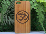 Om Laser-Engraved Case for iPhone 8, 8 Plus, 7, 7 Plus, 6, 6S, 6 Plus, 6S Plus, SE, 5, 5S