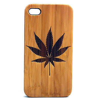 Marijuana Laser-Engraved Case for iPhone 8, 8 Plus, 7, 7 Plus, 6, 6S, 6 Plus, 6S Plus, SE, 5, 5S