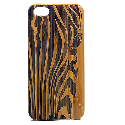Zebra iPhone Case | 6, 6S, 6 Plus, 6S Plus, SE, 5, 5S, 5C Bamboo Wood Cover. African Animal Print Stripe Pattern Equine. By iMakeTheCase