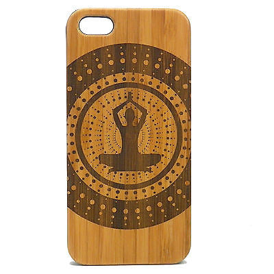 Yoga Mountain Pose iPhone Case | 8, 8 Plus, 7, 7 Plus, 6, 6S, 6 Plus, SE, 5, 5S Bamboo Wood Cover