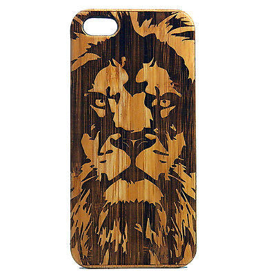 Lion iPhone Case | 7, 7 Plus, 6, 6S, 6 Plus, 6S Plus, SE, 5, 5S, 5C. Bamboo Wood Cover. Leo Astrology Africa Jungle King. By iMakeTheCase