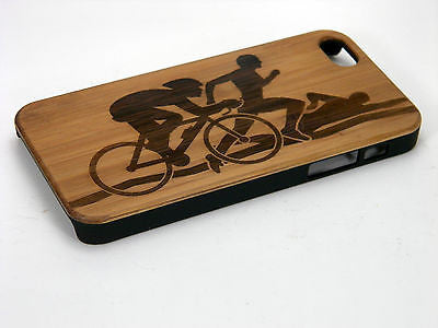 Triathlon iPhone Case | 8, 8 Plus, 7, 7 Plus, 6, 6S, 6 Plus, 6S Plus, SE, 5, 5S Bamboo Wood Cover