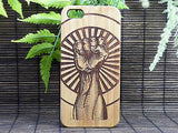 Raised Fist iPhone Case | 6, 6S, 6 Plus, 6S Plus, SE, 5, 5S, 5C. Bamboo Wood Cover Salute Unity Strength Rebel Rebellion Fight the Power. By iMakeTheCase