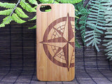 Compass Rose Laser-Engraved Case for iPhone 8, 8 Plus, 7, 7 Plus, 6, 6S, 6 Plus, SE, 5, 5S