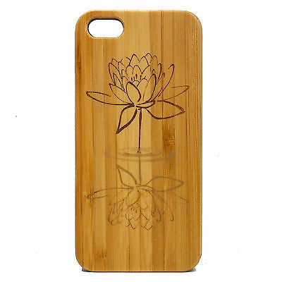 Lotus Flower Laser-Engraved Case for iPhone 8, 8 Plus, 7, 7 Plus, 6, 6S, 6 Plus, 6S Plus, SE, 5, 5S