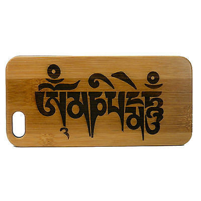 Sanskrit Mantra iPhone Case | 8, 8 Plus, 7, 7 Plus, 6, 6S, 6 Plus, SE, 5, 5S Bamboo Wood Cover
