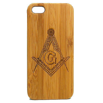 Freemason iPhone Case | 8, 8 Plus, 7, 7 Plus, 6, 6S, 6 Plus, 6S Plus, SE, 5, 5S, 5C. Bamboo Wood Cover Mason Masonic Square and Compasses Freemasonry Fraternity Brotherhood Secret Society. By iMakeTheCase