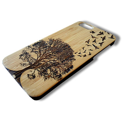 Birds Flight Laser-Engraved Case for iPhone 8, 8 Plus, 7, 7 Plus, 6, 6S, 6 Plus, 6S Plus, SE, 5, 5S