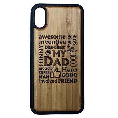 My Dad Laser-Engraved Case for iPhone X, XS, XS Max, XR