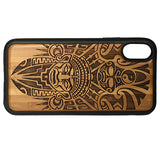 Aztec Pattern Laser-Engraved Case for iPhone X, XS, XS Max, XR