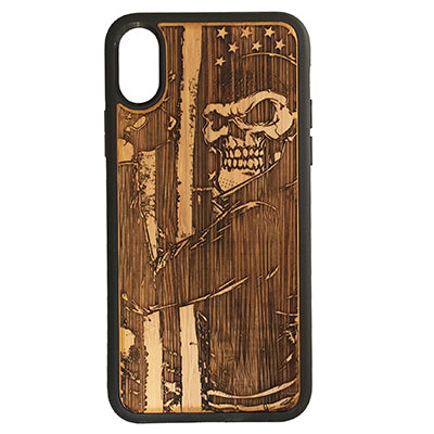 Biker Skull Laser-Engraved Case for iPhone X, XS, XS Max, XR