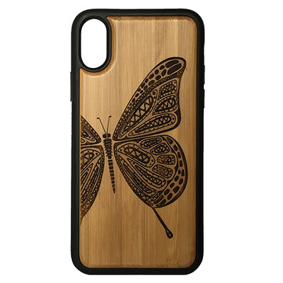 Butterfly Laser-Engraved Case for iPhone X, XS, XS Max, XR