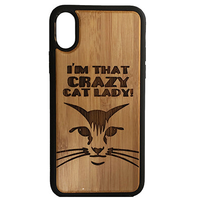 Cat Laser-Engraved Case for iPhone X, XS, XS Max, XR