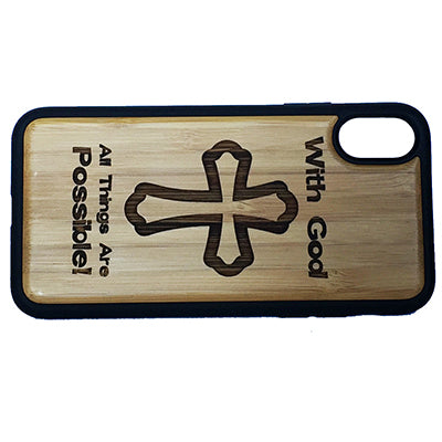 Christian Cross Laser-Engraved Case for iPhone X, XS, XS Max, XR