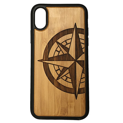 Compass Rose Laser-Engraved Case for iPhone X, XS, XS Max, XR