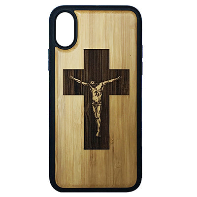 CRUCIFIX CROSS Laser-Engraved Case for iPhone X, XS, XS Max, XR