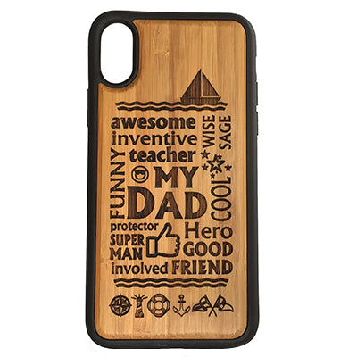 Dad Sailing Laser-Engraved Case for iPhone X, XS, XS Max, XR