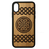Celtic Knot Laser-Engraved Case for iPhone X, XS, XS Max, XR