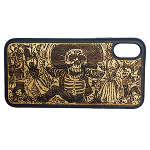 DAY OF THE DEAD iPhone Case Cover for iPhone X by iMakeTheCase Eco-Friendly Bamboo Wood Cover + TPU Wrapped Edges Mexican Calavera Oaxaqueña Catrina Dia De Los Muertos Sugar Skull Mexico