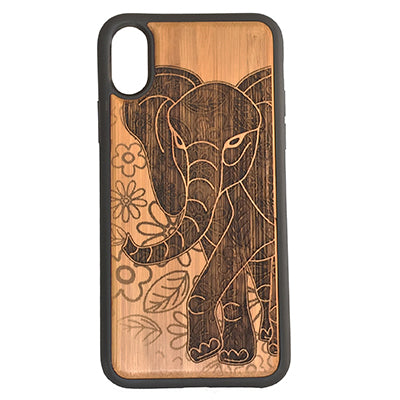 Elephant Laser-Engraved Case for iPhone X, XS, XS Max, XR