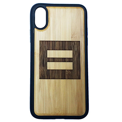 Equality Symbol Laser-Engraved Case for iPhone X, XS, XS Max, XR