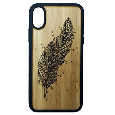 Feather Laser-Engraved Case for iPhone X, XS, XS Max, XR