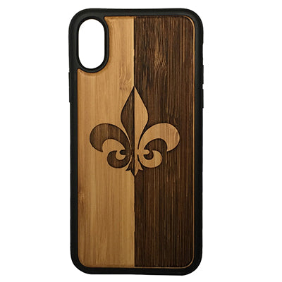 Fleur De Lis Laser-Engraved Case for iPhone X, XS, XS Max, XR