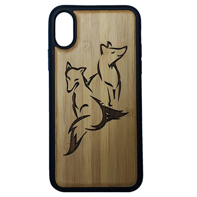 Fox Laser-Engraved Case for iPhone X, XS, XS Max, XR