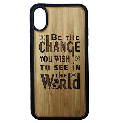 Gandhi Quote Laser-Engraved Case for iPhone X, XS, XS Max, XR