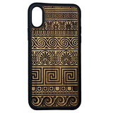 Greek Pattern Laser-Engraved Case for iPhone X, XS, XS Max, XR