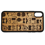 Hipster Icons Laser-Engraved Case for iPhone X, XS, XS Max, XR