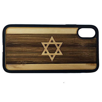 Israel Flag Laser-Engraved Case for iPhone X, XS, XS Max, XR