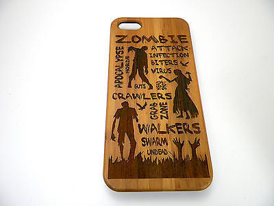 Zombie Attack iPhone Case | 8, 8 Plus, 7, 7 Plus, 6, 6S, 6 Plus, 6S Plus, SE 5, 5S Bamboo Wood Cover