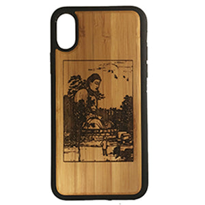 Buddha Kamakura iPhone Case Cover for iPhone X by iMakeTheCase Eco-Friendly Bamboo Wood + TPU Wrapped Edges Daibutsu Dhyani Murda Meditation Nirvana
