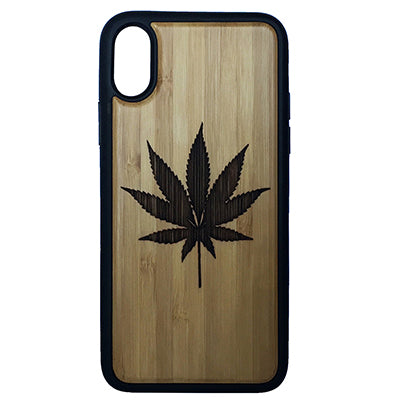Marijuana Leaf Laser-Engraved Case for iPhone X, XS, XS Max, XR